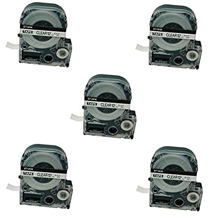 kompatibel f/ür Epson LabelWorks LW-300 LW-300L LW-400 LW-500 LW-600P LW-700 LW-900P LW-1000P KingJim TepraPro SR950 SR750 2 x Schriftband-Kassetten SC12YW LC-4YBW LC-4YBW9 schwarz auf gelb 12mm x 8m