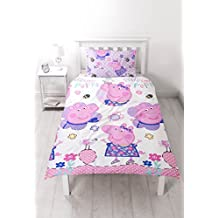 Peppa Pig Happy Uk Single/US Twin Duvet Cover Set - Rotary Design