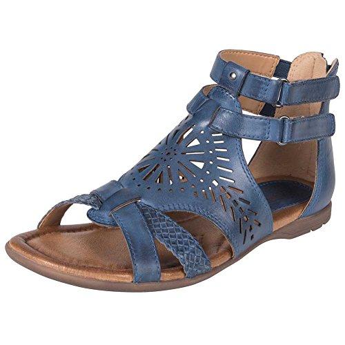 Sandalo Da Donna Con Zappa Terra Blu Zaffiro