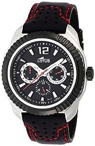 Lotus 15641/3 - Reloj analógico de caballero de cuarzo con correa de piel multicolor - sumergible a 50 metros