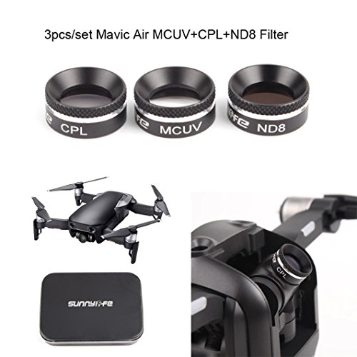 Sunnylife New Camera Lens Filter MCUV CPL ND8 Filter For DJI MAVIC AIR Drone by Dreamyth