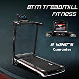 BTM A7 Motorised electric treadmill Folding Running machine 2019 Digital Control 2.0HP Motor Up to 12.8km/h 15 Programmes Walking Machine Portable Gym Equipment for Fitness Workout