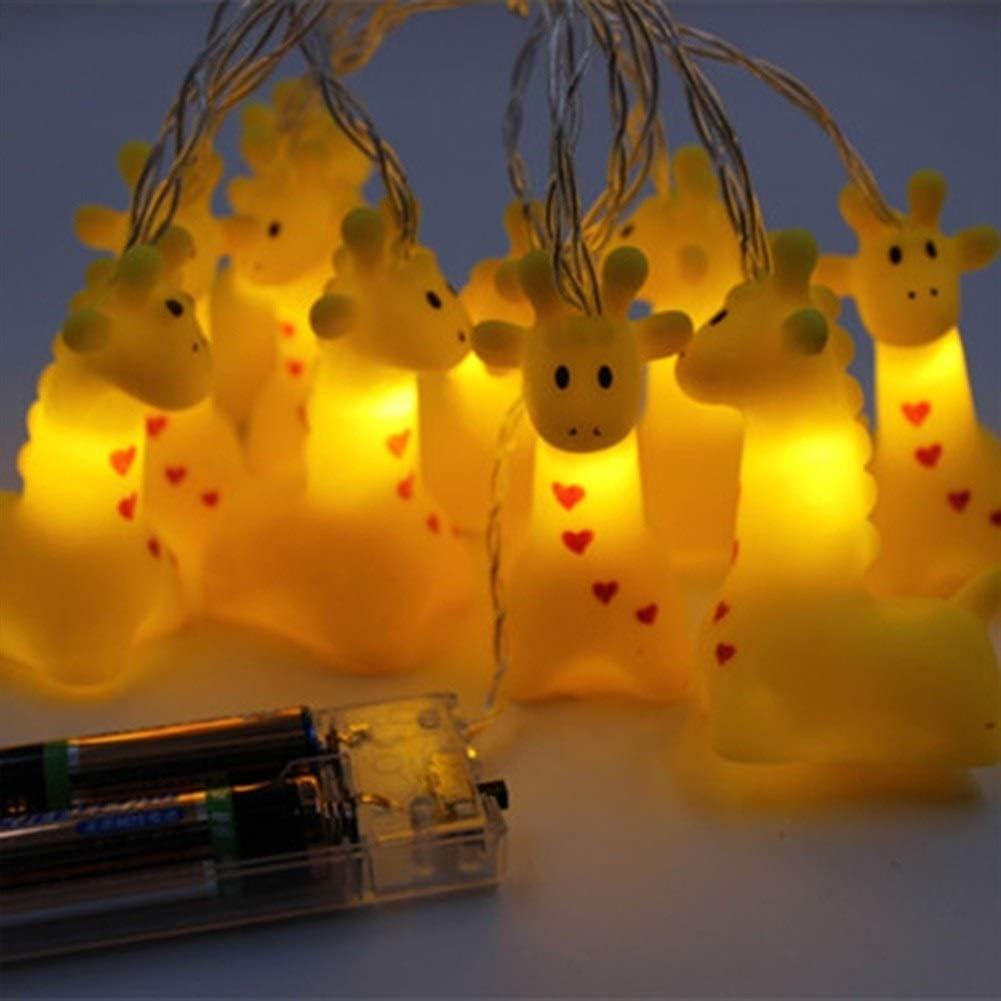 Romantisch Lichterketten, New Led Cartoon Unicorn LED-Leuchten, Silikon-Tier-Schnur-Licht for Kinderzimmerdekoration, neue Jahr-Dekoration Dekorative Beleuchtung (Color : Dog) Dog