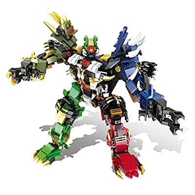 Blexy Puzzle Building Blocks Robot DIY Educational 1065PCS 6 in 1 Assembly Construction Bricks Set for Kids Toy 6232