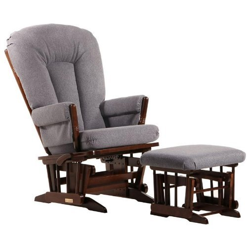 Post Glider (Dutailier 2 Post Glider and Ottoman Set in Coffee and Dark Grey by Dutailier)