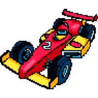 Racing Cars Pixel Art - Paint by Number, Sandbox Coloring Pages