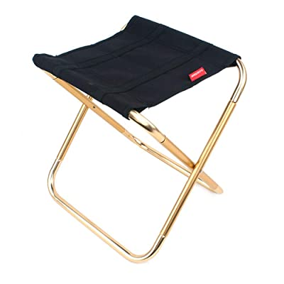 ZBK Outdoor Folding Chair Aluminum Alloy Fishing Chair Bbq Bench Folding Bench Portable Train Bench Camping Ponyza: Home & Kitchen