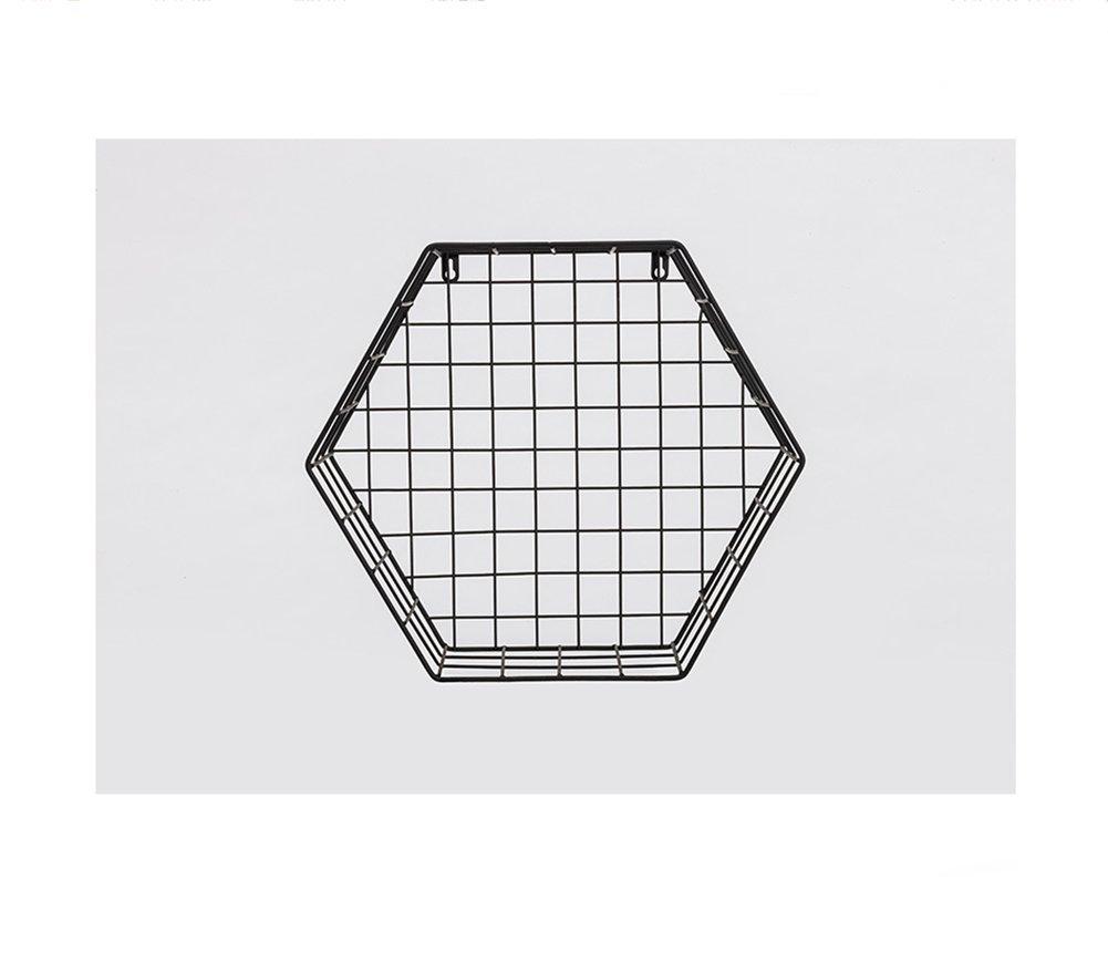 かわいい! ジオメトリシェルフ、北ヨーロッパ壁にグリッドシェルフジオメトリアイアンアートヘキサゴンブックシェルフリビングルーム壁面フレーム創造性壁掛けホームベッドルームスタディチェッカーサスペンションストレージラック (Color : B07L2VPKP7 Black, : Size : (Color M) Medium Black B07L2VPKP7, ヤマグン:50684d9f --- a0267596.xsph.ru