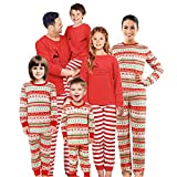 SUNNYBUY Family Christmas Pajamas Set Matching Men, Women Kids PJs Warm Tops Bottoms Classic Red Colors 08(Men XXL)