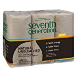 Seventh Generation Natural 100% Unbleached Recycled Paper Towels, 2-Ply, Brown - Includes four packs of six rolls each.