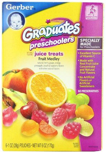 UPC 015000008406, Gerber Graduates Juice Treats, Fruit Medley, 6-Ounce Pouches (Pack of 6)