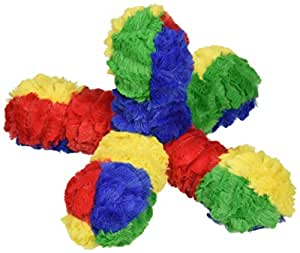 Patchwork Pet Ball Jack 10-Inch Multicolor Squeak Toy for Dogs