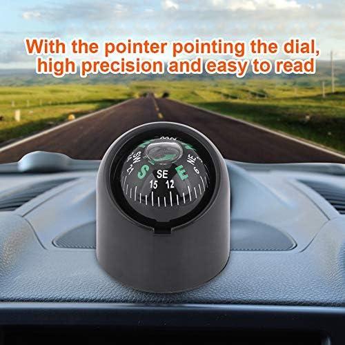 Akozon Mini Portable Compass Dash Mount Self-adhesive Compass Ball for Marine Boat Truck Car Outdoor