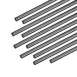 uxcell 3mm Carbon Fiber Bar for RC Airplane Matte Pole US, 200mm 7.8 inch, 10pcs