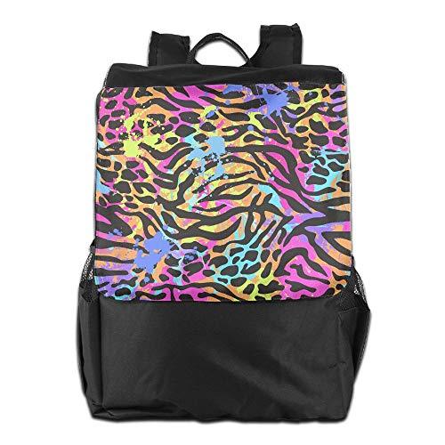 Beach Surfer Travel Backpacks Rainbow Leopard Grain Zebra Stripe Colorful Shoulder Bag Polyester Multifunction Youth