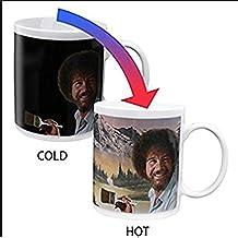 Bob Ross Heat Changing Coffee Mug Painting Appears