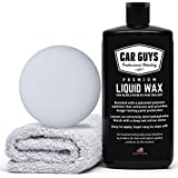 CarGuys Liquid Wax - The Ultimate Car Wax Shine with Polymer Paint Sealant Protection! - 16 oz Kit