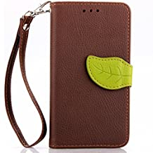 AllDo Original Booklet Case for LG Nexus 5 PU Leather Cover Soft Flexible Skin Folio Holster Lightweight Thin Bumper Full Protection Case (+1*strap) - Brown