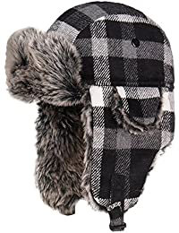 Winter Trooper Trapper Hunting Faux Fur Hat Ear Flaps Aviator Snow Cap