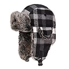 Features: Old school style meets tenacious warmth in this Russian-style unisex Winter Trooper hat or hunting hat. Flock lining provides warmth and comfort. Polyester outer shell makes cleaning the hat easy.Chin straps and buttons fasten ear f...