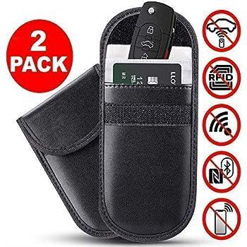 Auto Vehicle Anti-Theft Signal Shielding Pouch Manfiter Faraday Key Fob Protector 2 Pack Car Signal Blocker Faraday Bag for Keyless Fob