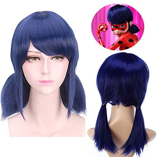 Miraculous Ladybug Child Costume by WINPE Kids Halloween Christmas Cosplay(hair)
