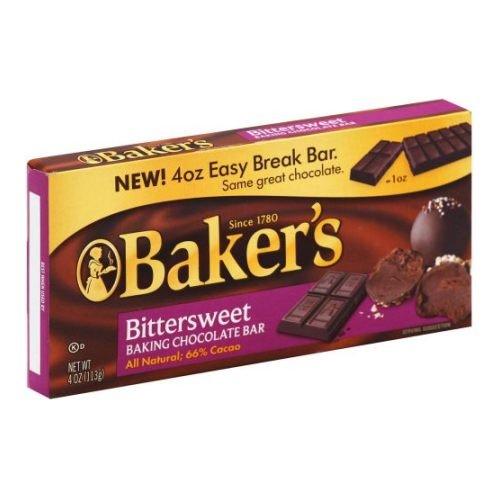 Bakers Bittersweet Baking Chocolate Bar, 4 Ounce - 12 per case.