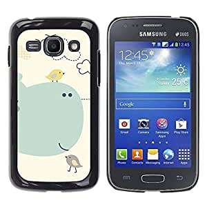 Paccase / SLIM PC / Aliminium Casa Carcasa Funda Case Cover para - Kids Drawing Cute Mother Mom Child - Samsung Galaxy Ace 3 GT-S7270 GT-S7275 GT-S7272