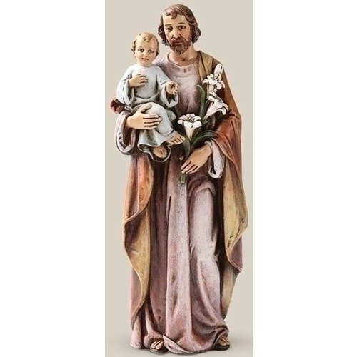 - Religious Gifts Catholic Gift 6 Inch Stone Resin Saint St Joseph with Jesus Christ Child Home Chapel Decoration