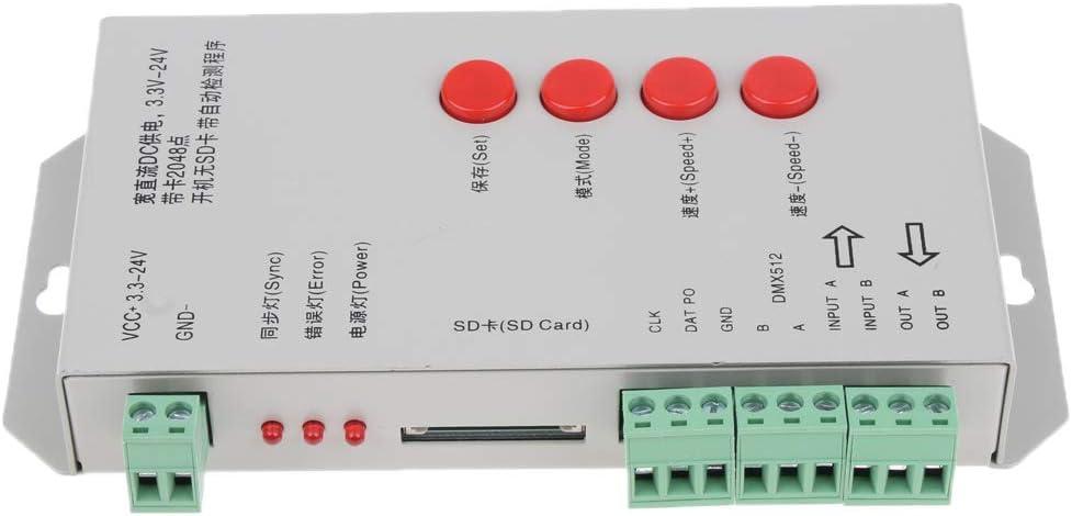 T1000S RGB LED Controller Configurable LED Strip Pixels Controller Programmable Pixel Controller with SD Card