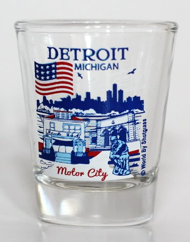 Detroit Michigan Great American Cities Collection Shot Glass (Michigan Shot Glass)