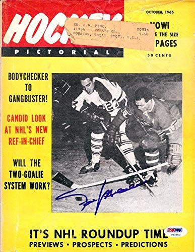 Frank Mahovlich Autographed Hockey Pictorial Magazine Cover Toronto Maple Leafs #U93860 PSA/DNA Certified