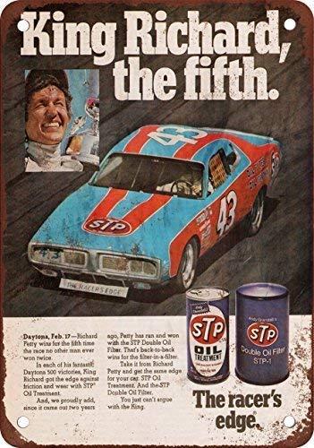 L * W dise?o cl/¨/¢sico de reproducci/¨/®n Metal tin Sign Vintage TIN Sign 7.8 DOGT 1976 Richard Petty Para STP 11.8 inch