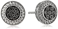 Sterling Silver Diamond Stud Earrings from Amazon Collection