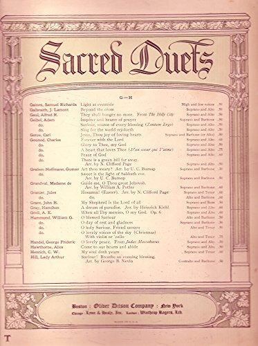 (Jesus, Thou Joy of Loving Hearts Duet for Soprano and Baritone or Alto)
