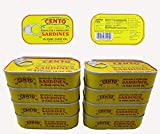 #8: Skinless & Boneless Sardines in Olive Oil, Cento (Pack of 8)