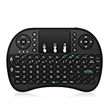 Richard2W 2.4GHz Mini Wireless Keyboard with Touchpad Mouse Rechargable Li-ion Battery,Wirelessly control any of your preferred devices