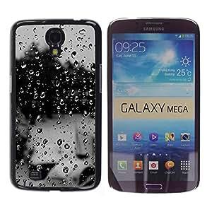MOBMART Carcasa Funda Case Cover Armor Shell PARA Samsung Galaxy Mega 6.3 - Dark Colored Raindrops