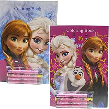 Amazon.com: Disney Frozen Coloring Books Elsa and Anna (2 Books ...