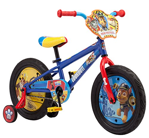 Nickelodeon Paw Patrol Boy's Bicycle With Training Wheels, 16-Inch Wheels (16 Inch Bike For 4 Year Old)