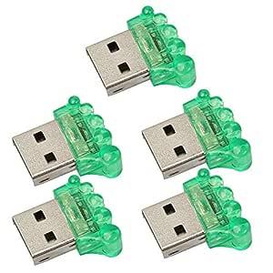 Diuspeed 5pcs Mini USB 2,0 Lector de Tarjeta de Memoria ...
