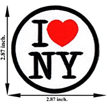 I love New York NY United States US USA City Red Heart Travel Tourist Iron-on Patch Embroidered Sew T-shirt Hat