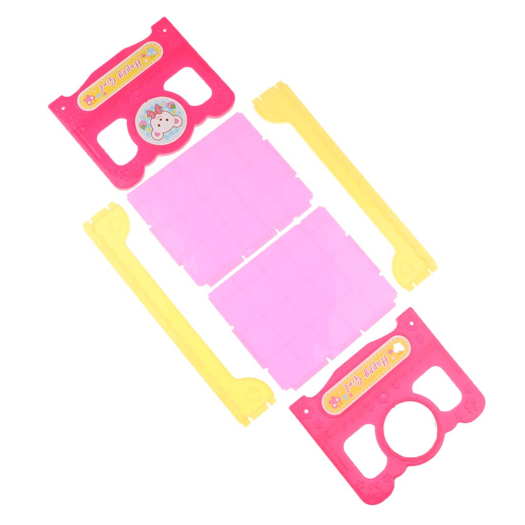 CUTICATE 22 Doll Bed Furniture Lovely Pink Single Bed for 18 Inch Doll