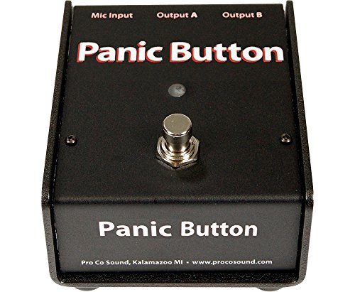 Pro Co Panic Button Mic A/B Box (Co Pro Button Panic)
