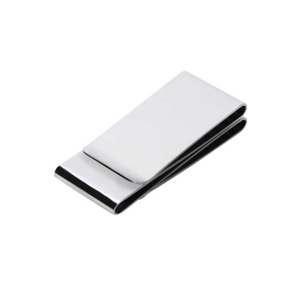 Wei Hong Home Money Clips Money Clip Wallet Stainless Steel Trinity Money Clip High-end Mens Metal Money Clip (Color : Silver, Size : 62.5cm)