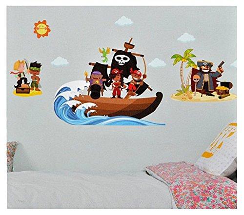 Unbekannt Xxl Wandtattoo Sticker Piraten Und Piratenschiff