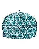 Home Decorative Cotton Creative Tea Cosy Indian Mandala Tea Cozies Tea Pot Cover Dark Blue Print Tea Cozy (Green Ombre)