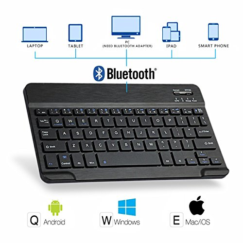 iPad 9.7 2018 Keyboard Case, Multi-Angle Viewing Stand Smart Cover Case with Detachable Wireless Bluetooth Keyboard for New iPad 6th 2018 / iPad 5th 2017 / iPad Pro 9.7 / iPad Air - Black by CoastaCloud (Image #3)