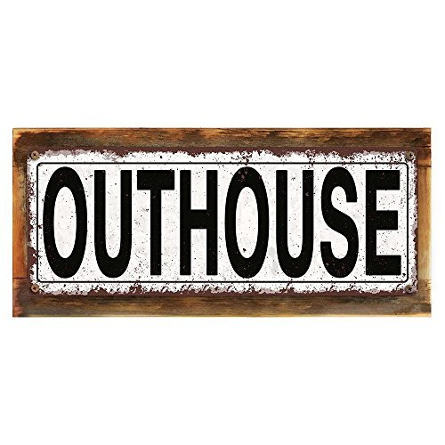 (chengdar732 Outhouse 4x18 Metal Sign, Rustic, Living, Humor, Hand-Crafted from reclaimed materials)
