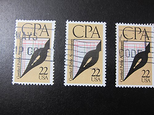 Cpa Corner - CPA Accounting Framed Postage Stamp Art - 3.5
